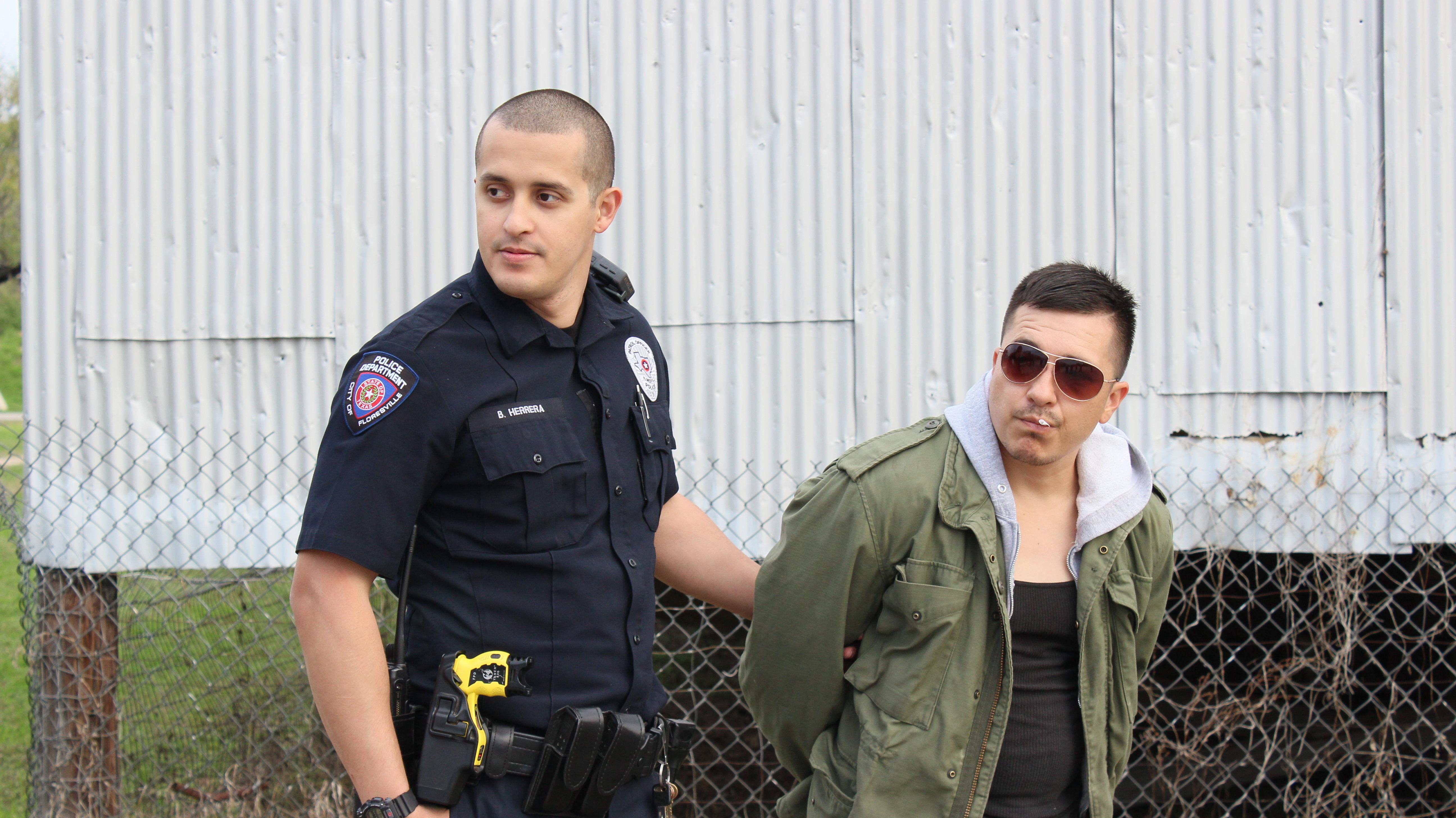 Officer Herrera with Edgar