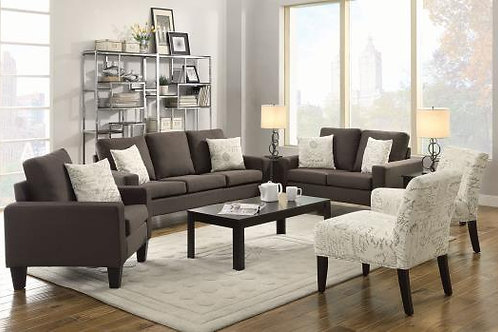 Bachman Track Arm Upholstered Sofa Grey