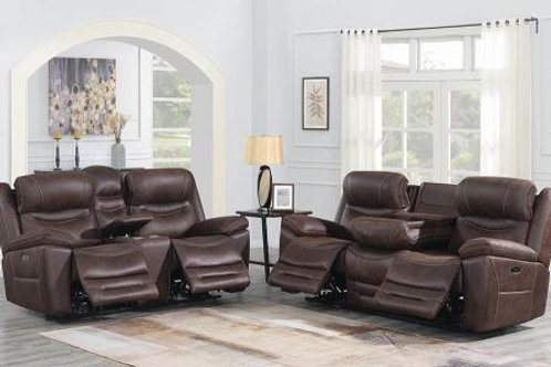 Hemer 3-Piece Power^2 Living Room Set Chocolate