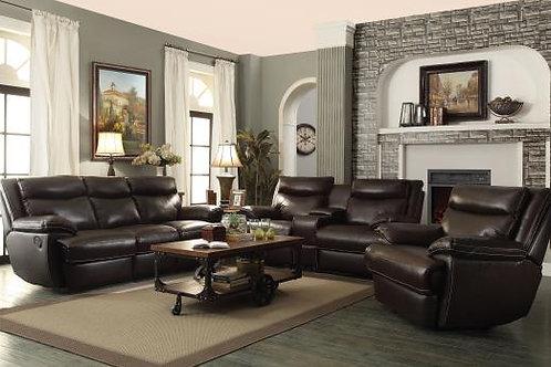 Macpherson Upholstered Motion Sofa Espresso