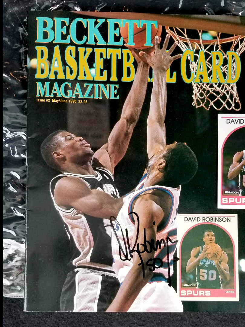 D. Robinson [SIGNED] Magazine & Rookie Card