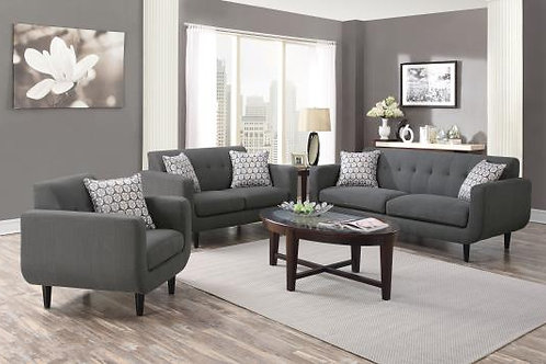 Stansall Tufted Back Sofa Grey