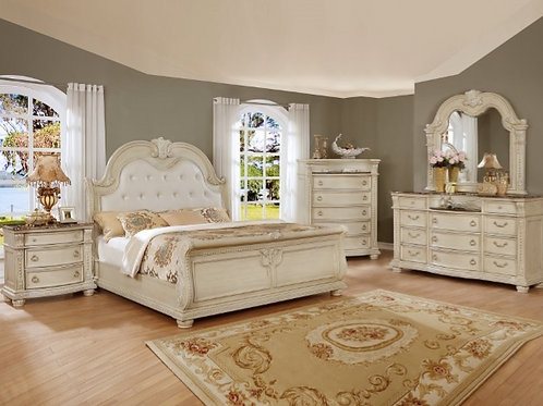 STANLEY ANTIQUE WHITE BEDROOM