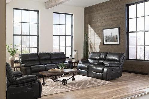 Willemse 3-Piece Upholstered Living Room Set Navy Blue