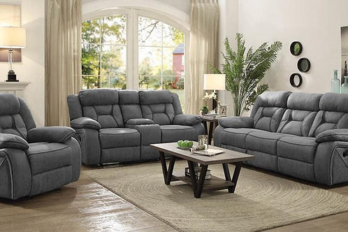 Higgins Pillow Top Arm Upholstered Motion Sofa Grey