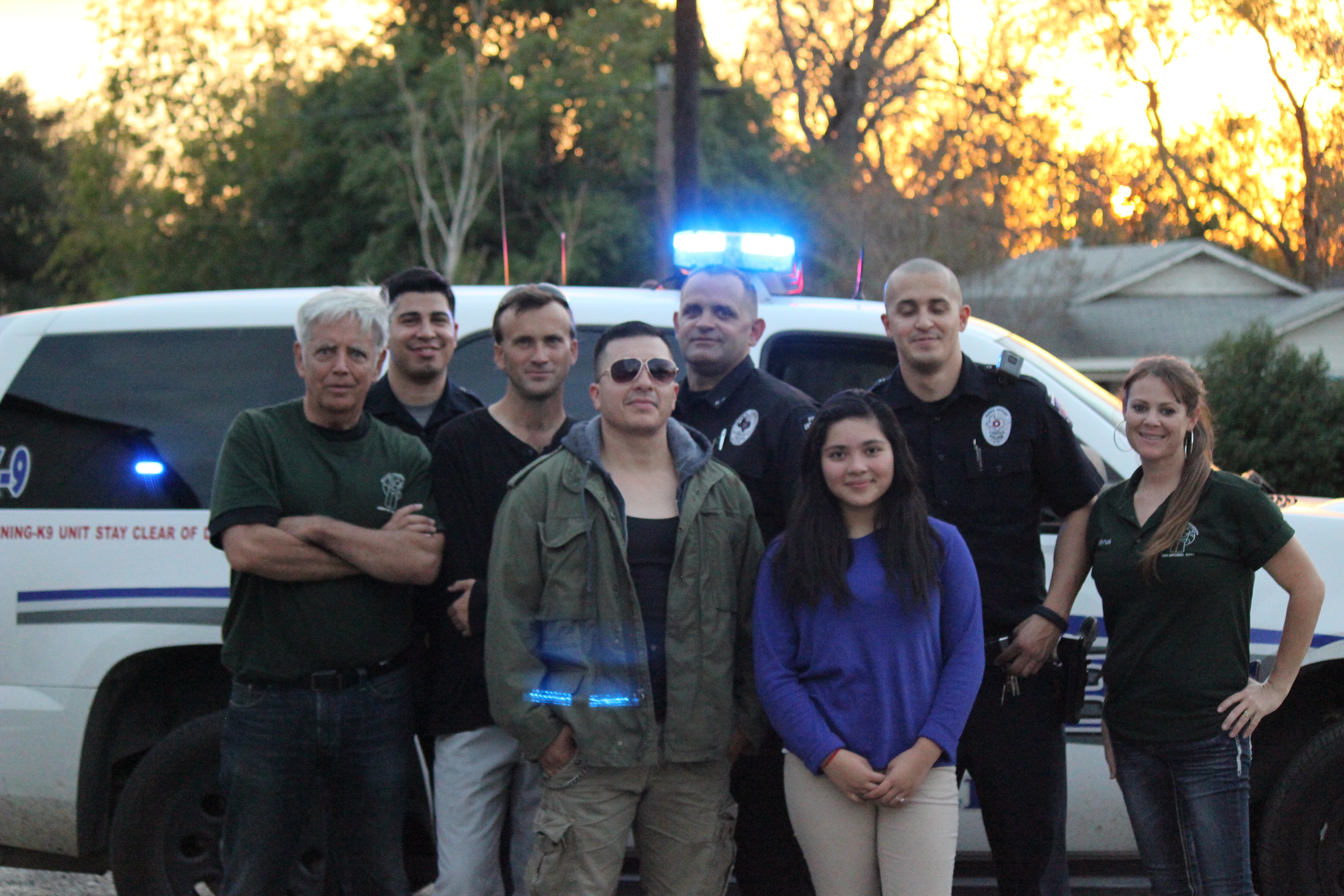 Ken with Officers and Crew