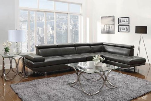Piper Upholstered Sectional Charcoal