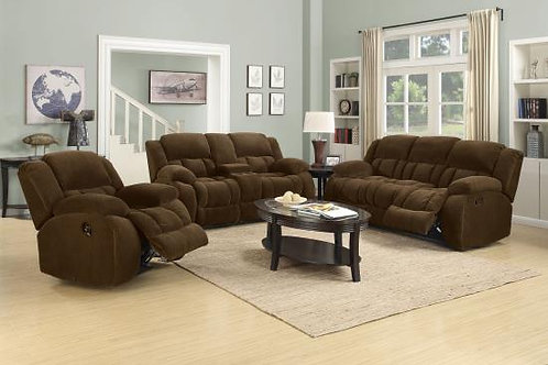 Weissman Motion Sofa With Console Chocolate