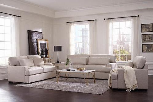 Becca 3-Piece Wide Track Arm Living Room Set Beige