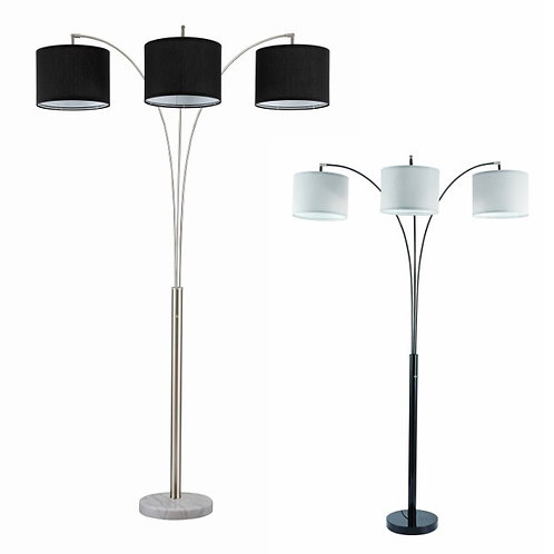 3 ARM FLOOR LAMP, DRUM