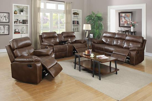 Damiano Button Tufted Motion Sofa Tri-Tone Brown