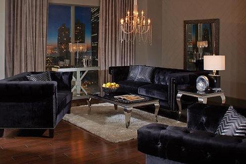 Reventlow Tufted Sofa Black