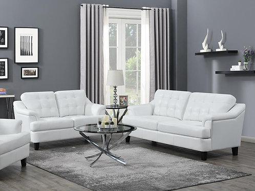 Freeport Sofa Tufted Back Living Room Set Snow White