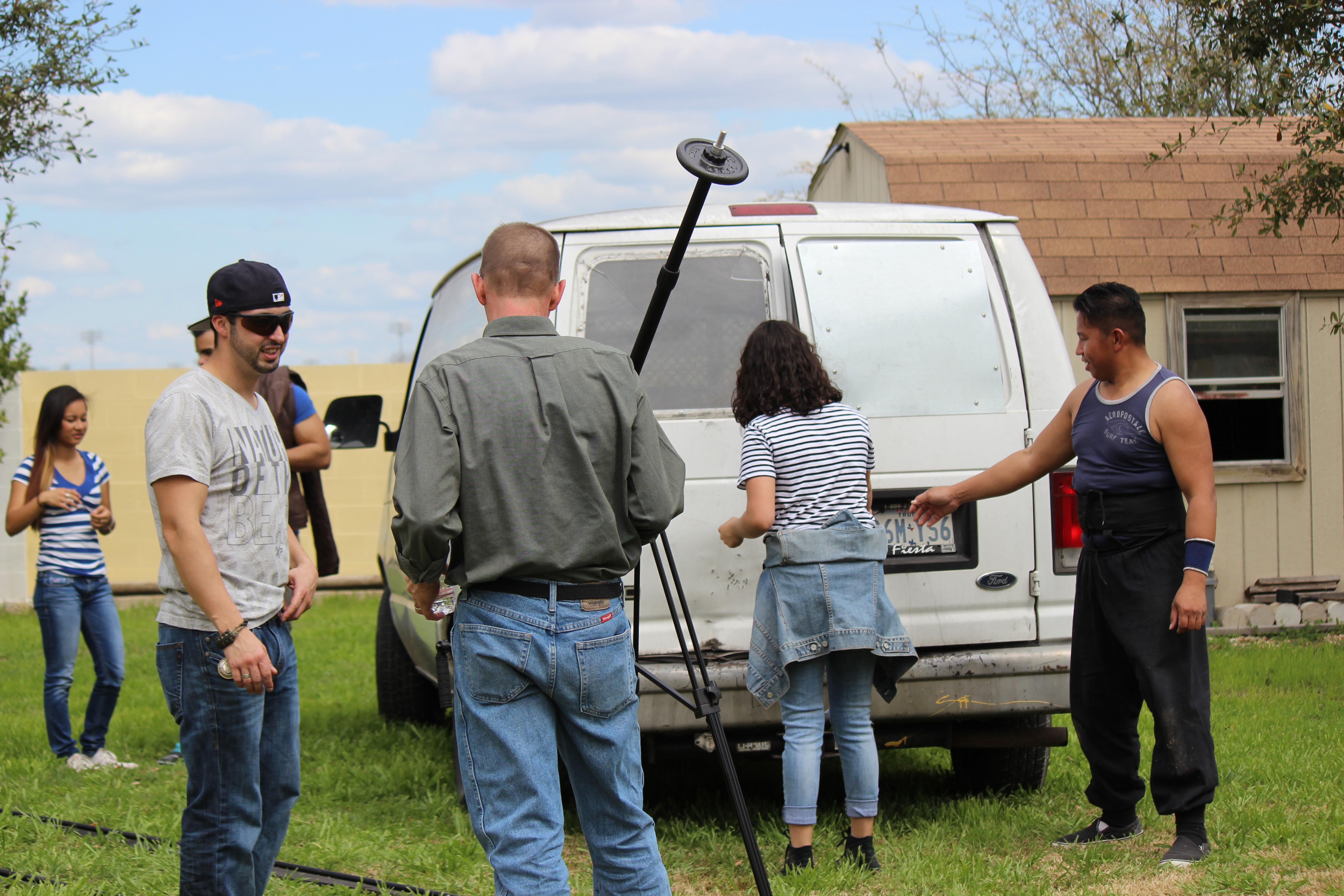 Crewmembers and the Van.JPG