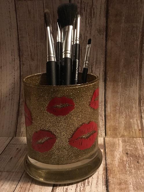 Lip makeup brush holder