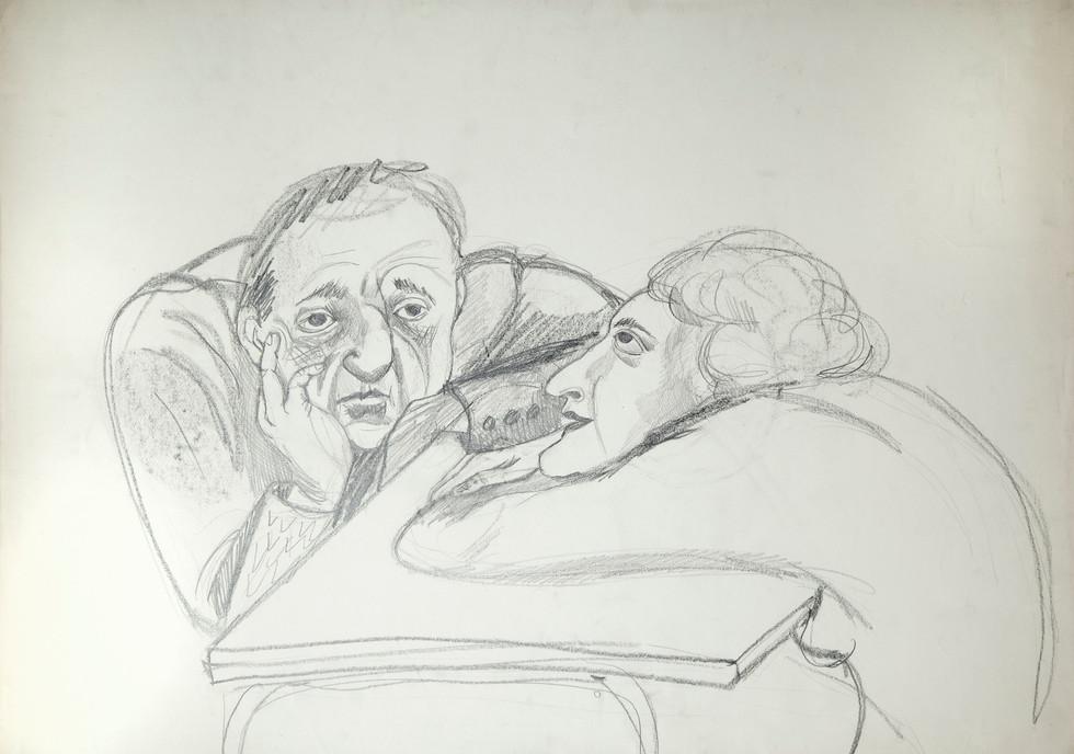 1979, grafito sobre papel, 50 x 67 cm