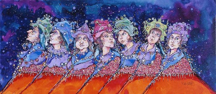 Seven Woman Procession