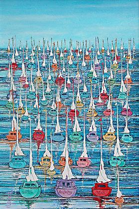 Array of Sailboats