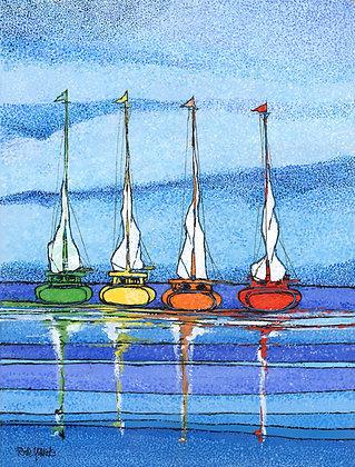 Four Sailboats