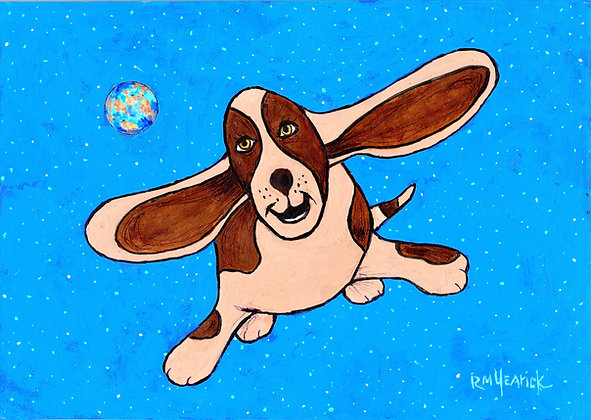 Poochie the Flying Basset Hound
