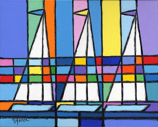 Prism Three Sailboats