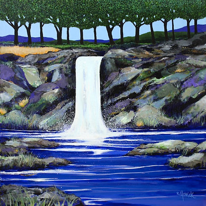 Waterfall by Meadow