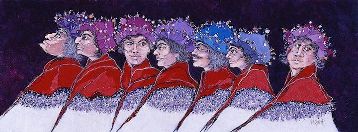 Seven Man Procession