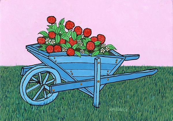 Blue Wheelbarrow
