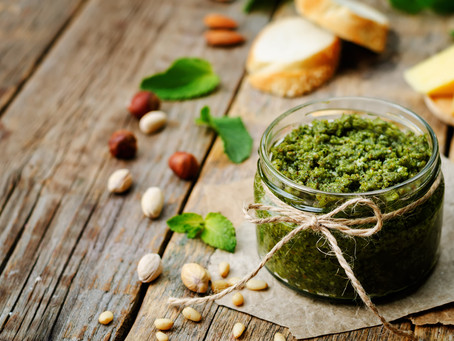 EAT: MINT and CORIANDER PESTO