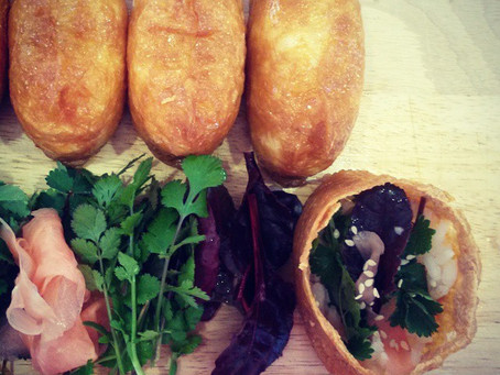 EAT: Inari with Winter Greens