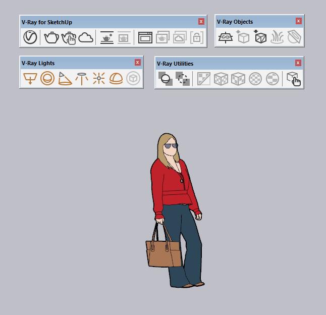 Ícones do V-Ray para SketchUp.