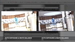 Auto Exposure e Auto White Balance ligado e desligado