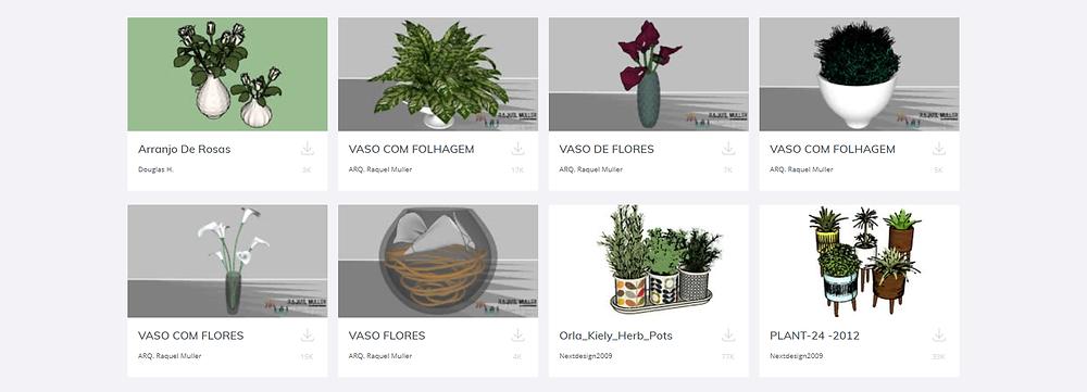 Coleção de jardins no 3D warehouse