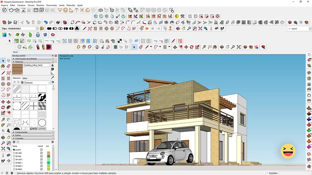 Viewport com ícones bagunçados no SketchUp