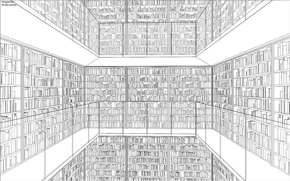 Cena no SketchUp - Preenchendo as estantes com livros usando o Skatter, por David Brufau.