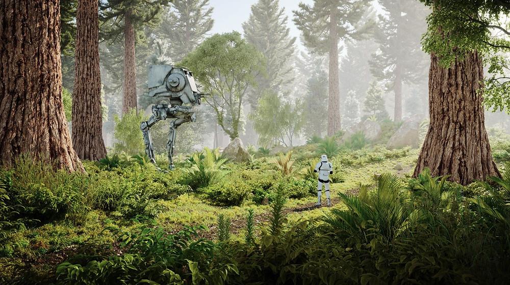 Floresta criada com o Skatter, por Thomas Hauchecorne.