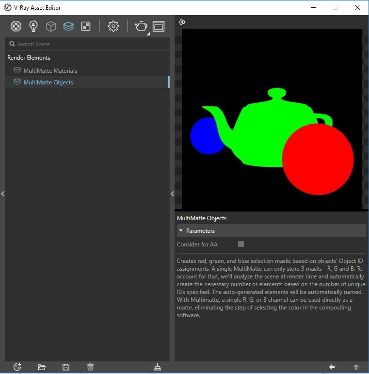 MultiMatte Elements no V-Ray Next para SketchUp