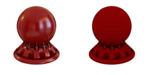 Material com reflexo vs. material sem reflexo