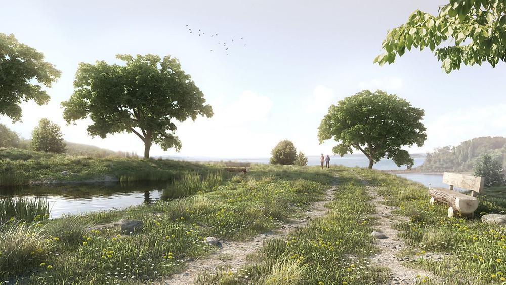 Imagem composta usando modelos da biblioteca do Skatter. Render por Mads Bjerre Olese.