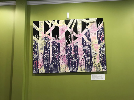 Art on Display at CrepeBerry Cafe in Wellesley Hills