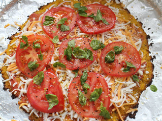 cauliflower pizza - this is not a joke!