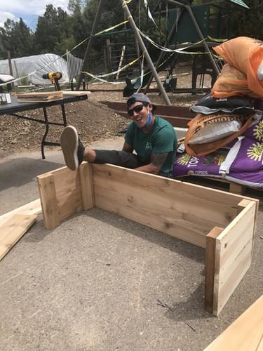 Luis building a box!