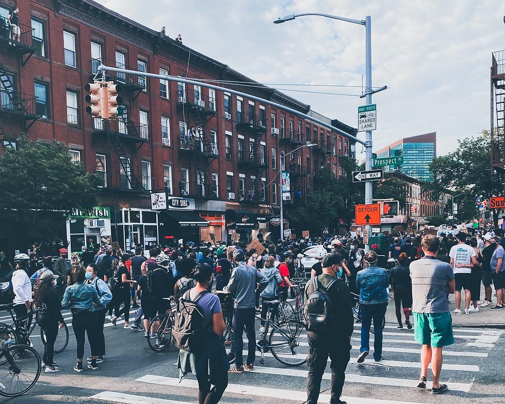 George Floyd protest on 5th Av Brooklyn