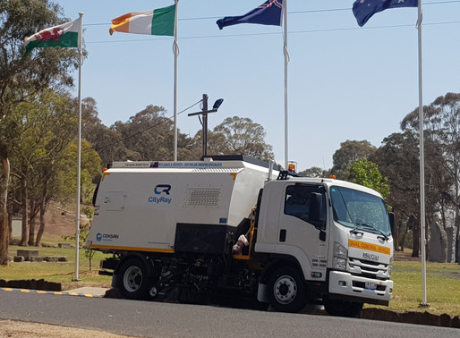 FLAGS ARE RAISED FOR THE NEW SWEEPER IN TOWN!