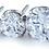 Thumbnail: Titanium Prong-Set Faceted Clear Cubic Zirconia Threadless End