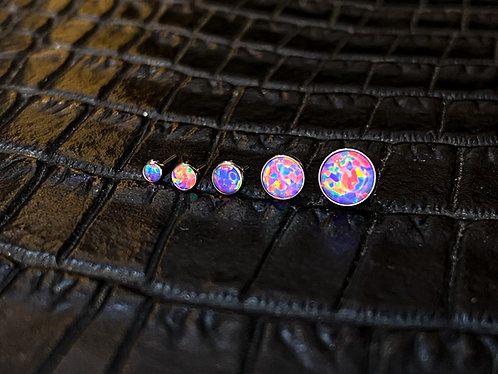 Titanium Cabochon Lavender Opal Threadless End