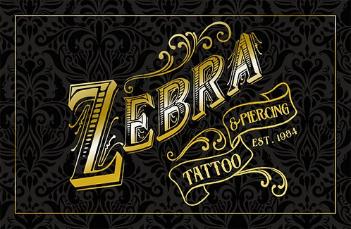 Zebra Gift Card for IN PERSON PURCHASES ONLY