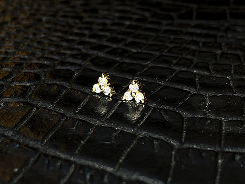 14K Gold Trinity Threadless End
