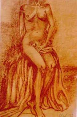 femme au drap
