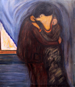Le baiser d'après E Munch